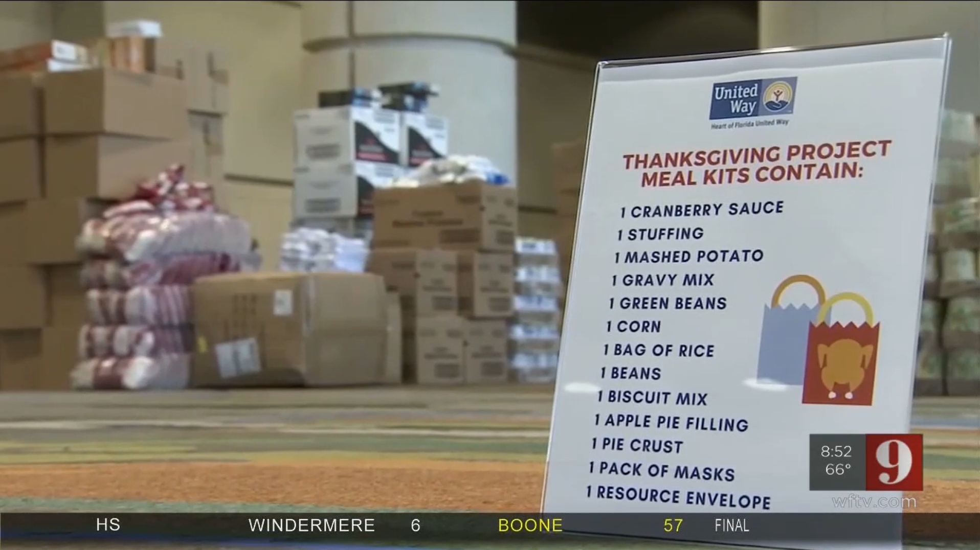 WFTV | United Way Thanksgiving Project