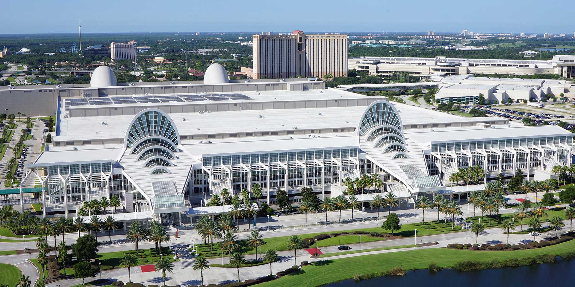 Aerial view or Orange County Convention Center