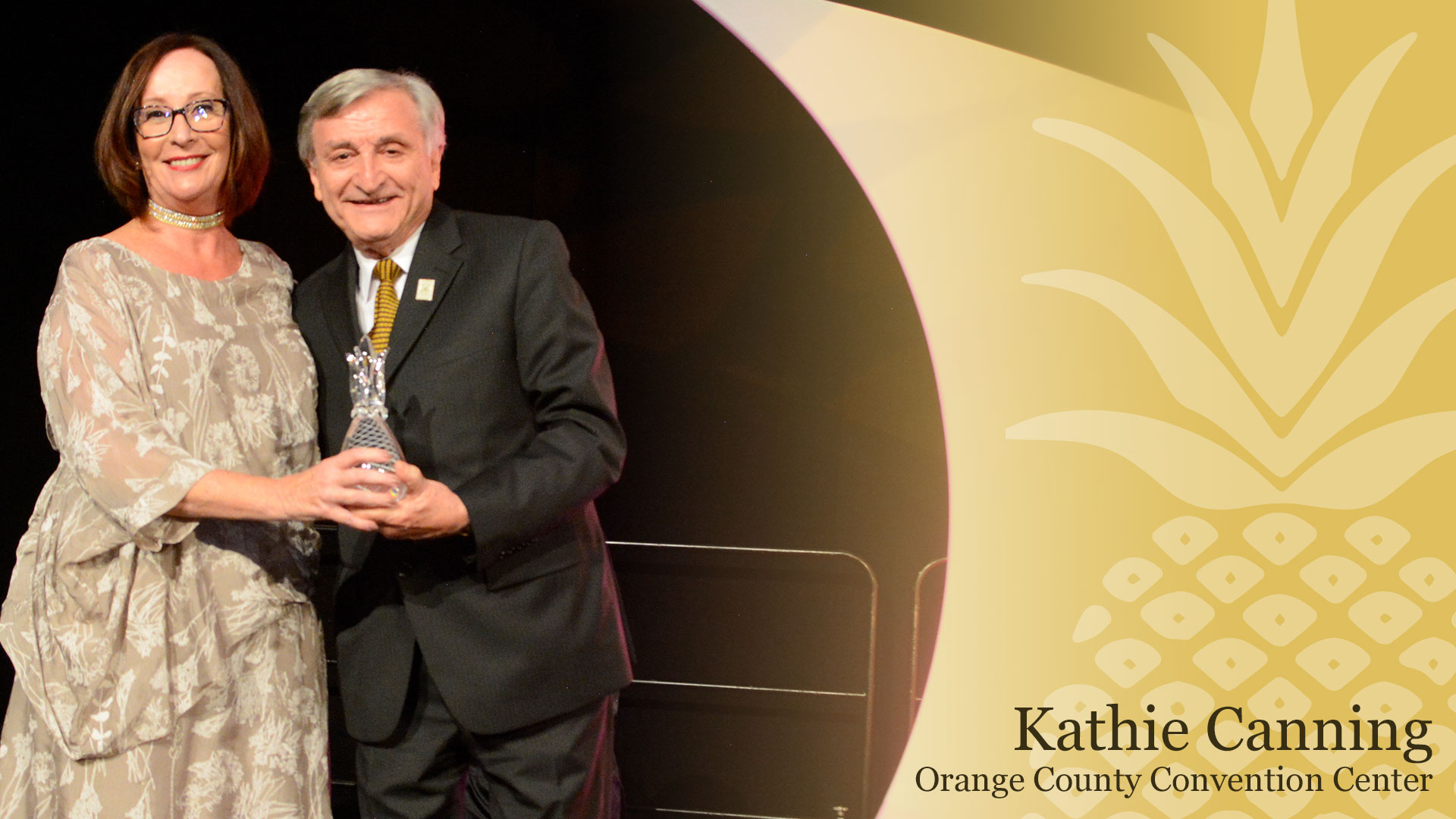 Kathie Canning, Executive Director of the Orange County Convention Center was inducted into the Central Florida Hospitality Hall of Fame