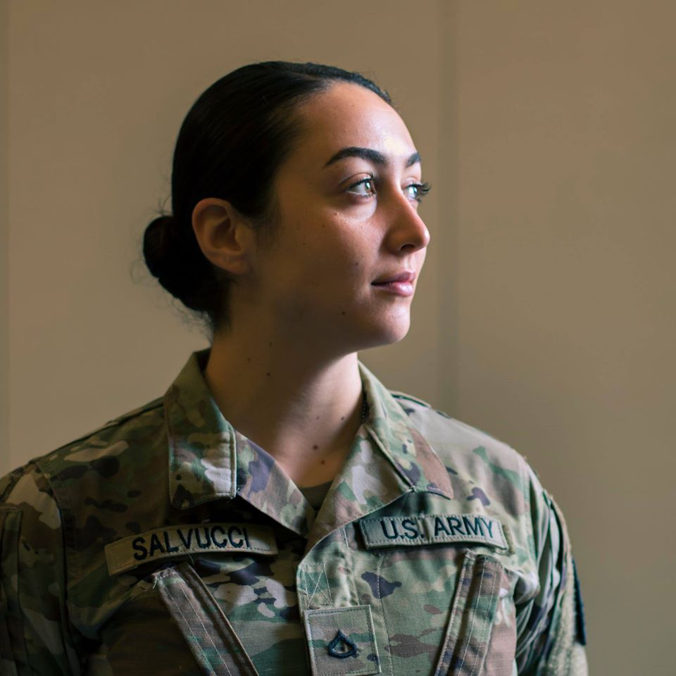 Image of PFC Stephanie Salvucci in National Guard Uniform