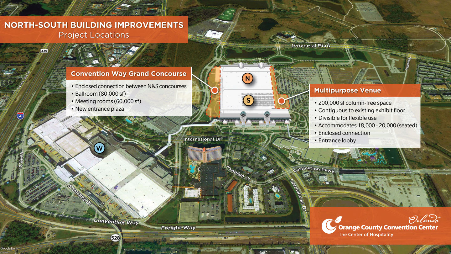 Orange County Convention Center moves forward with North-South Building Improvements